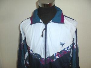 vintage-TACTIC-Jacke-90s-oldschool-Sportjacke-90er-Trainingsjacke-Badminton-XL