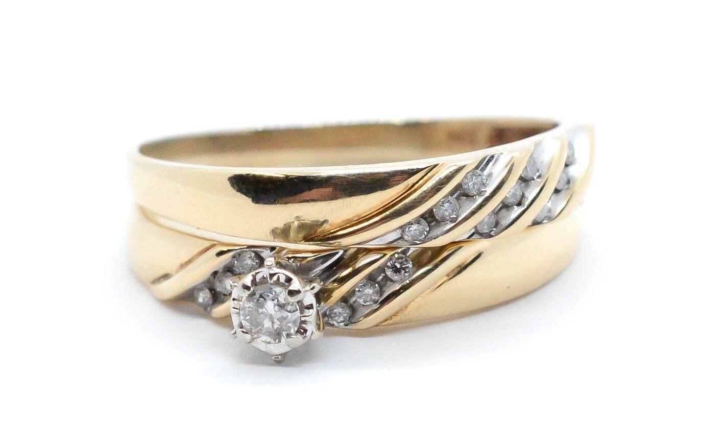 Trauringe Eheringe Aus 585 Gold Bicolor Mit Diamant & Gratis Gravur A19013495 Uhren & Schmuck