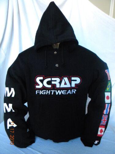 MMA Mixed Martial Arts Sweatshirt long sleeve hoodie snap button NWT!