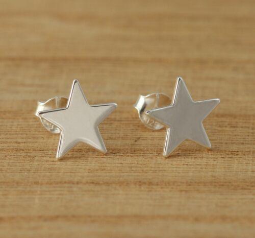 Círculo de plata esterlina 925 /& Star diseño geométrico Aretes vendedor del Reino Unido
