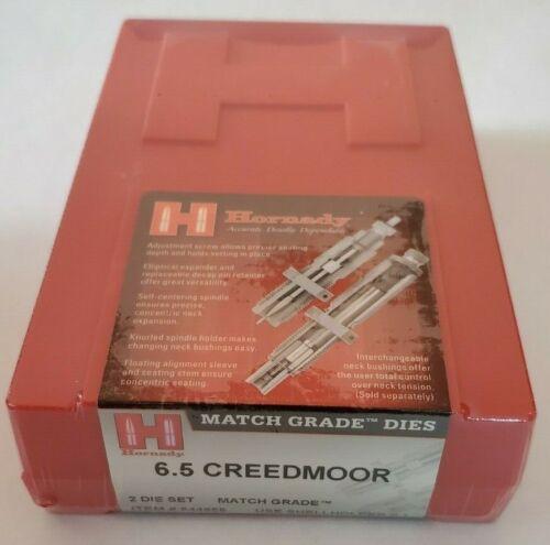 Hornady 544655  Match Grade 2-Die Set 6.5 Creedmoor FREE Priority Insured Ship