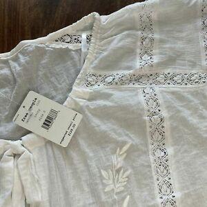 "FREE PEOPLE blouse Coton ""Maria Maria"" IVOIRE NEUF GRAND XS +POCHE ISABEL MARANT"