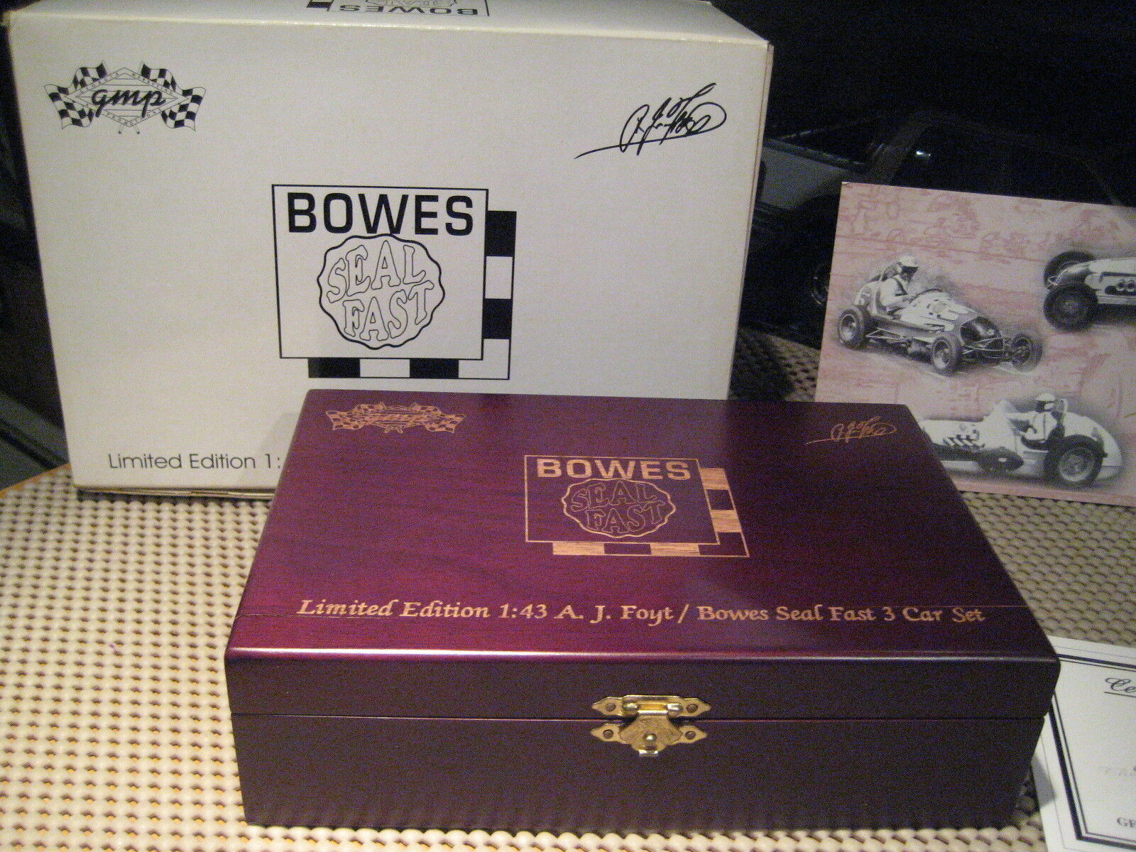 GMP - - - LIMITED EDITION 1 43 A.J. FOYT   BOWES SEAL FAST 3 CAR SET f7827a
