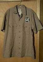 Brand Dickies Skull Button Up Shirt Size Large