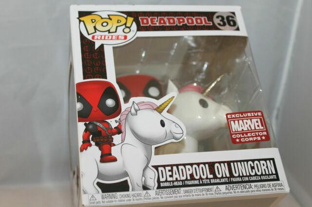Deadpool On Unicorn. Funko Pop Marvel Collector Corps Deadpool Box