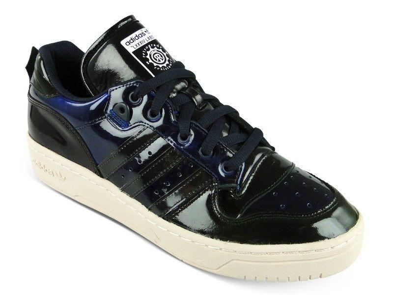 Adidas Rivalry LO Alle 84-Lab Herren Top Sneaker Schwarz Lackleder Alle LO Größen Neu 3d9d3d