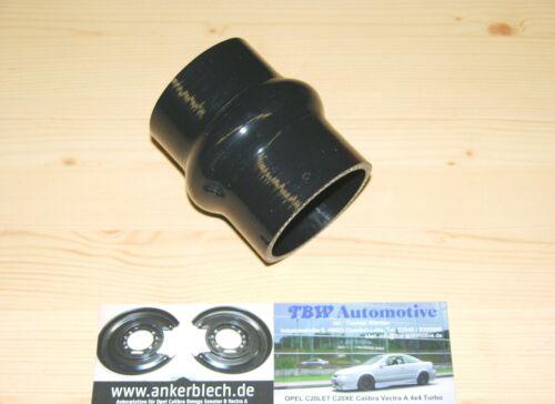 """2/"""" Hump Pantaloni LLK connettore motore turbo Tallone in silicone tubo 50 mm NERO Nuovo"""