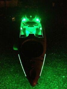 Kayak paddle board canoe led light kit see your for Kayak lights for night fishing