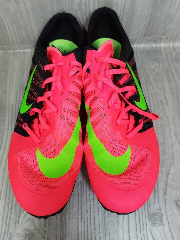 Nike Shoes  Zoom Flywire Track Shoes Nike Bright Neon Colors Orange Green No Spikes Sz 15 9e8e1e