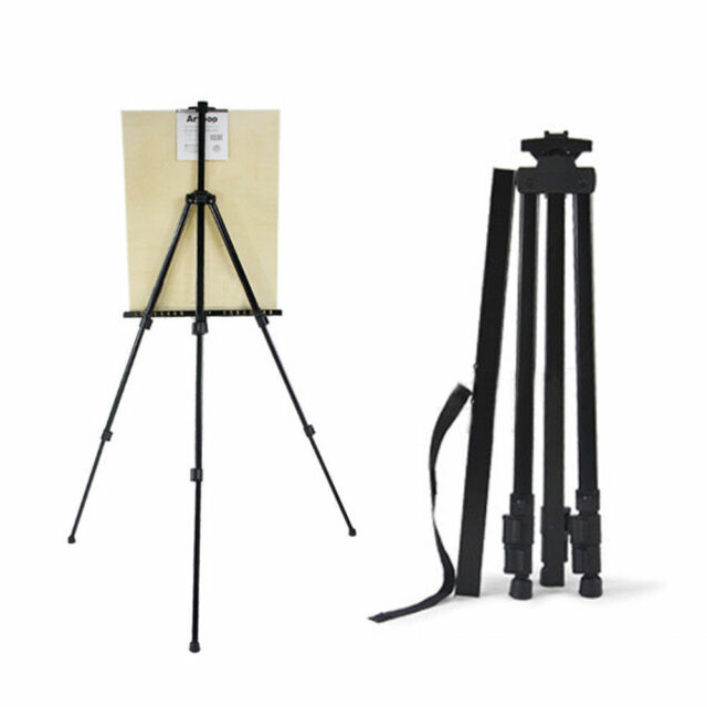 stand painting drawing metal portable desk display easel foldable