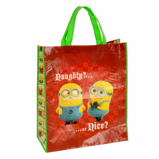 Giant Reusable SHOPPER Shopping Christmas Gift Bag - Minions Naughty ...