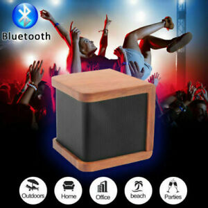 2x-Wireless-Wooden-Bluetooth-Speaker-Mini-Portable-Stereo-4-0-technology-Speaker