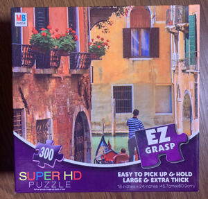 Super-HD-300-Extra-Large-Thick-EZ-GRASP-Piece-Puzzle-Of-Venezia-Venice-Italy-Euc
