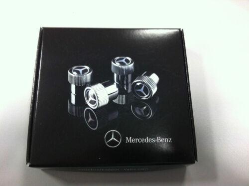 Mercedes-benz válvula tapas Design set con Mercedes estrella en cromo