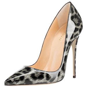 94ccbedc545 Image is loading MERUMOTE-Women-High-Heels-Fashion-Leopard-Print-Plus-