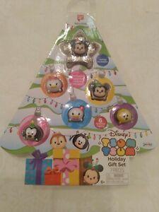 Tsum-Tsum-Disney-Holiday-Gift-Set-7-Pieces-Christmas-Tree-Tsparkle-Mickey-NIB
