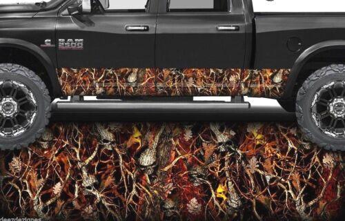 Obliteration Skull Blaze Camo Camo Truck Graphics Rocker Panel Wrap