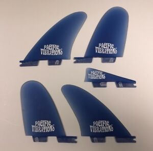 PACIFIC VIBRATIONS FCSII Fcs2  Stussy template Twin trailer surfboard Fins