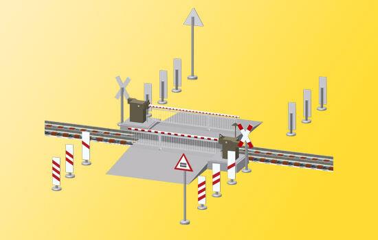 Viessmann 5104 cancello di ferrovia con tenda da sole, completamente automatico,