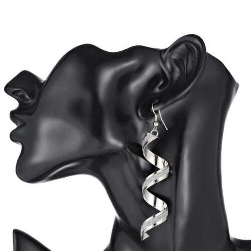 Ohrring Silber Strass Wassertropfen Brincos Damen Mädchen Trendy Ear Cuff WOW