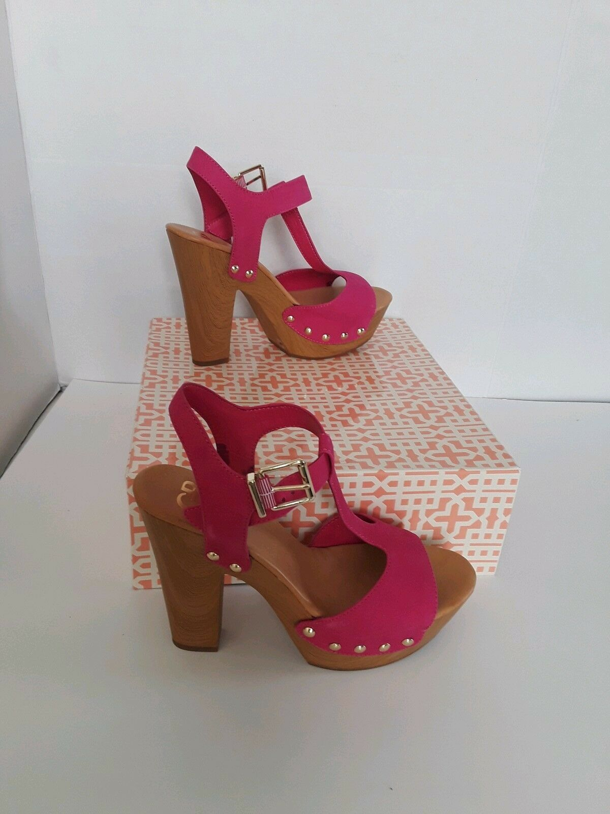NEW GIANNI BINI Day Dream Heels shoes Sandals Pina Pink 2 Pairs Size 7.5 & 10 M.