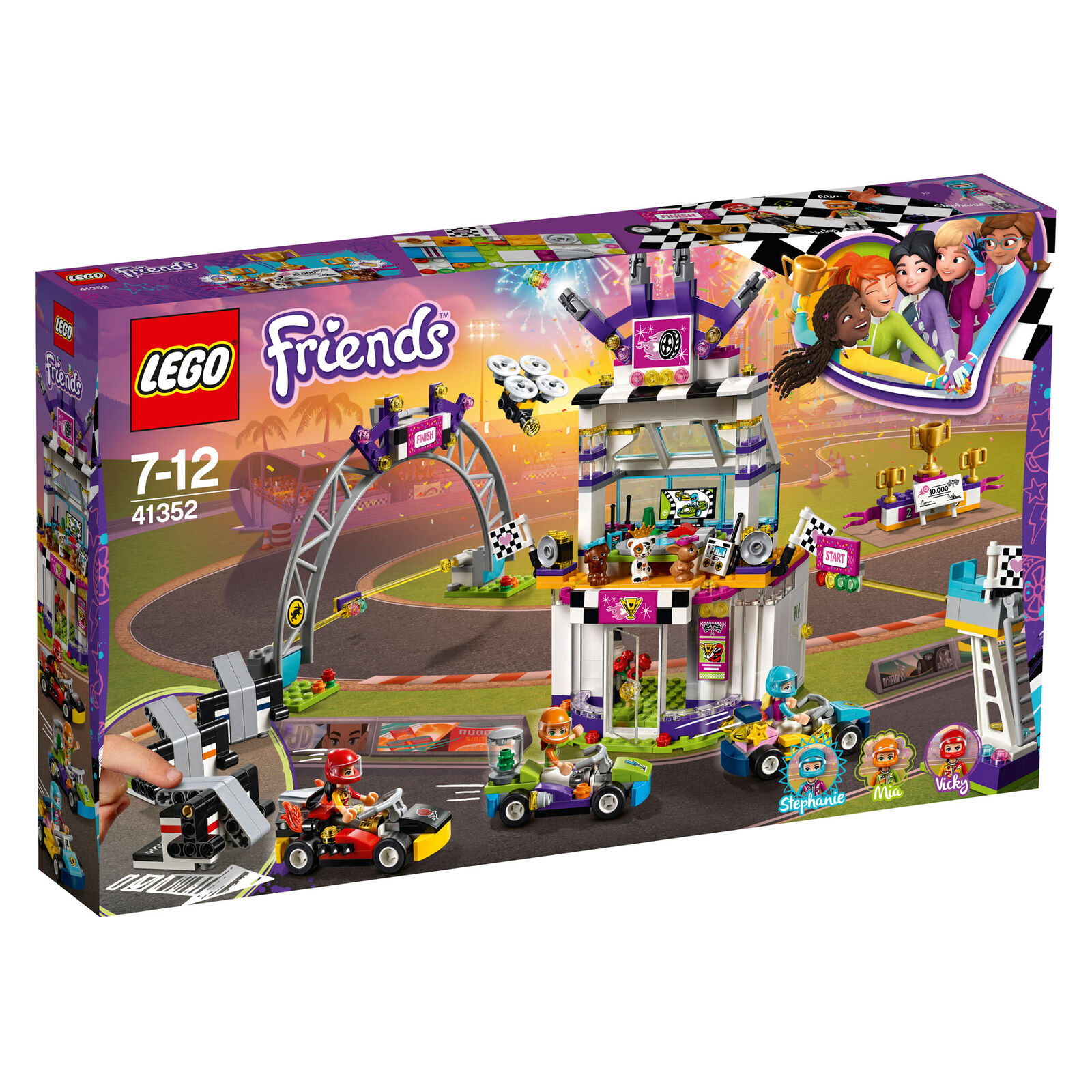 41352 LEGO Friends Friends Friends The Big Race Day 648 Pieces Age 7+ New Release For 2018 7a8467