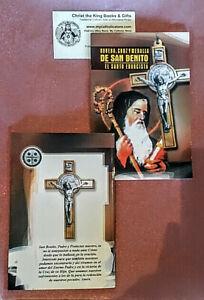 Novena Cruz Y Medalla De San Benito El Santo Exorcista Ebay