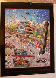 INDY-500-COLLECTORS-POSTER-2004-LIMITED-88TH-RUNNING-CHARLES-FAZZINO-EXCELLENT