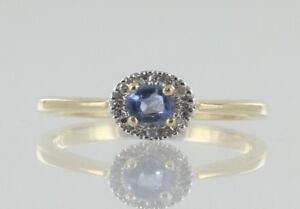 Zafiro-Y-Diamantes-Anillo-De-Vestido-en-9-CT-con-Certificado-De-Zafiro-Natural-sin-Tratar