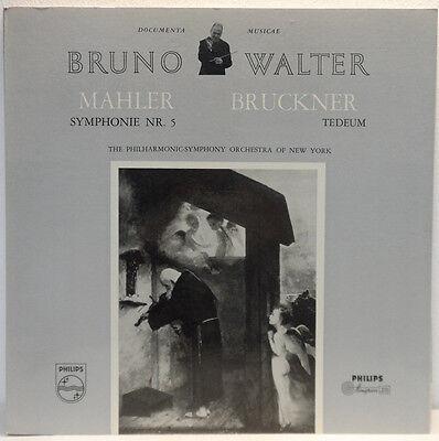 Bruno Walter - Mahler: Symphony No. 5 / Bruckner: Tedeum 2LP Philips Minigroove