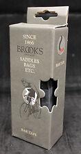 Brooks Black Leather Handlebar Tape Wrap with Cork Bar Ends