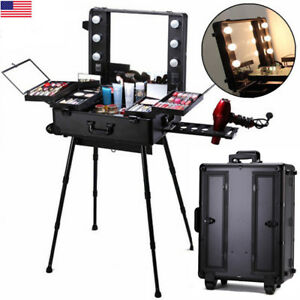 Image Is Loading Professional Makeup Case Light Station Large Portable Dressing