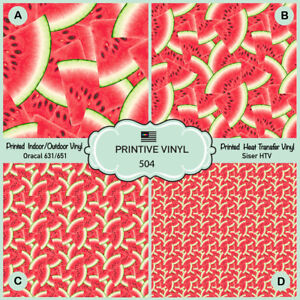 picture relating to Oracal Printable Vinyl identified as Information and facts pertaining to Watermelon Routine Posted Siser HTV, Oracal Adhesive Vinyl - 504