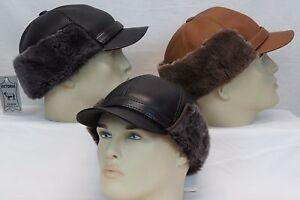 Image is loading 100-Sheepskin-Shearling-Leather-Fur-Elmer-Fudd-Captain- df83b740b38c