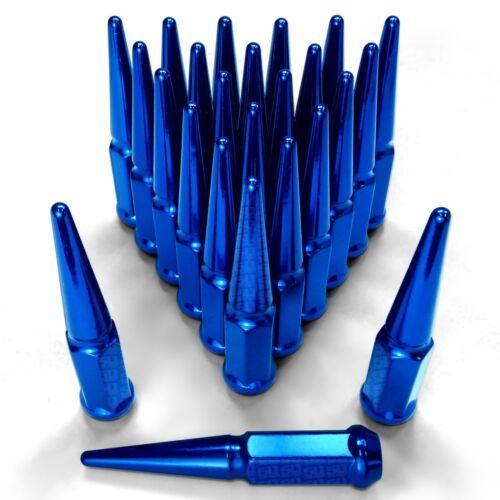 24pcs Blue 12x1.25mm Spiked Lug Nut for 1987 1988 1989 Nissan Hardbody Pickup
