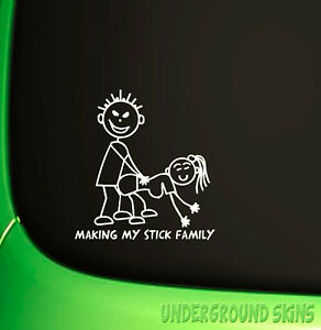 MAKING-MY-STICK-FAMILY-FUNNY-JDM-DRIFT-EURO-WINDOW-VW-VINYL-DECAL-CAR-STICKER