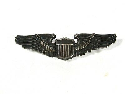 wwii army air corps sterling silver pilots wings by lgb. Black Bedroom Furniture Sets. Home Design Ideas