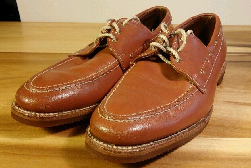 febae9e9540f Allen Edmonds Leather Boat Shoes Shoes Shoes Sz 9 C 21636a - running ...