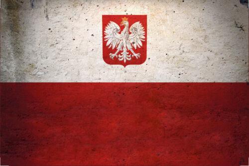 Polen Poland Fahne Flagge Flag Blechschild Schild gewölbt Tin Sign 20 x 30 cm