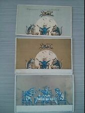 "#ORIGINAL Victorian Trade Cards Lot of 3 4 x 2.5"" Cow Jumped Over The Moon"