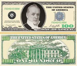 Details about $100 Poker Play Money Hundred Dollar Bill Fake Funny Money  with FREE SLEEVE