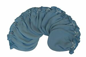 Solid Blue 6 Pairs Cotton Newborn Baby Infant No Scratch