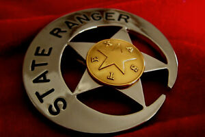 ++/ Historical police badge, * State Ranger *, Texas / seldom