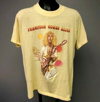 Vintage Peter Frampton 70/'s Iron on on a NEW t-shirt Large
