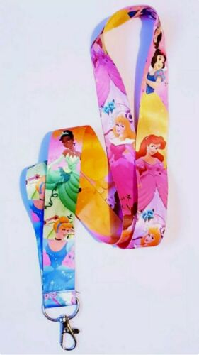 Princess Cinderella Belle Mermaid Ariel ID Badge Holder Neck Strap Lanyard UK