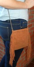 UO Urban Outfitters Ecote Womens Brown Suede Chain Mini Crossbody Bag Retail $44