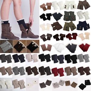 Damen-Wadenwarmer-Trachtensocken-StiefelsockenKalb-Stulpen-Socken-Beinwarmer