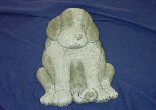 Dog with Snail Concrete Cement Plaster Stepping Stone Mold 1057 Moldcreations