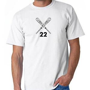 Baseball softball crossed bats custom your number t for Custom t shirts for teams