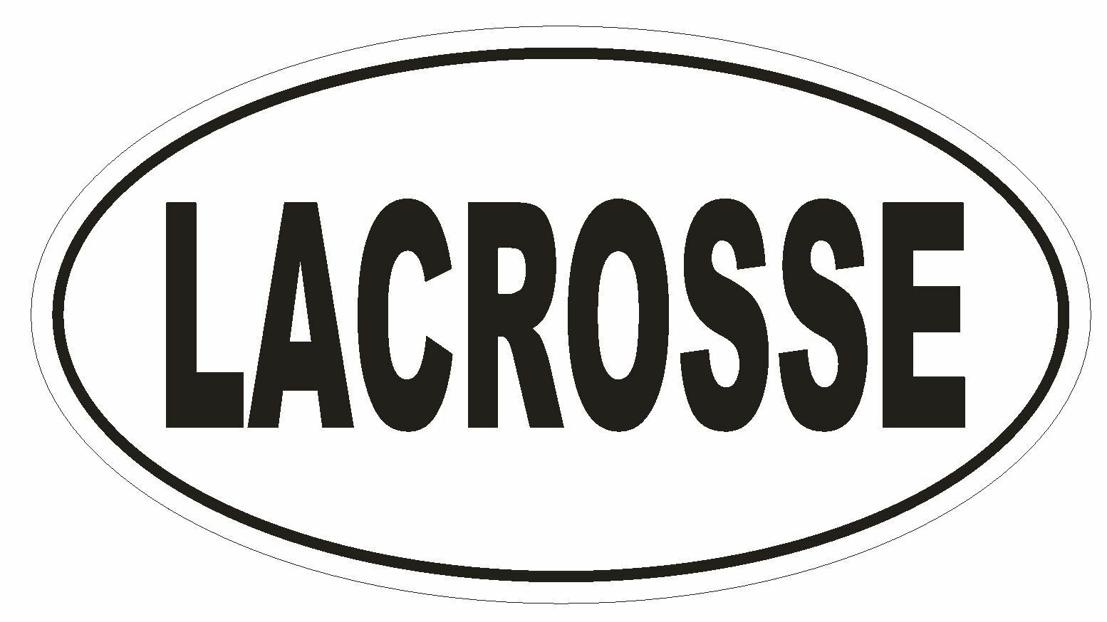 LACROSSE Oval Bumper Sticker or Helmet Sticker D2007 Euro Oval